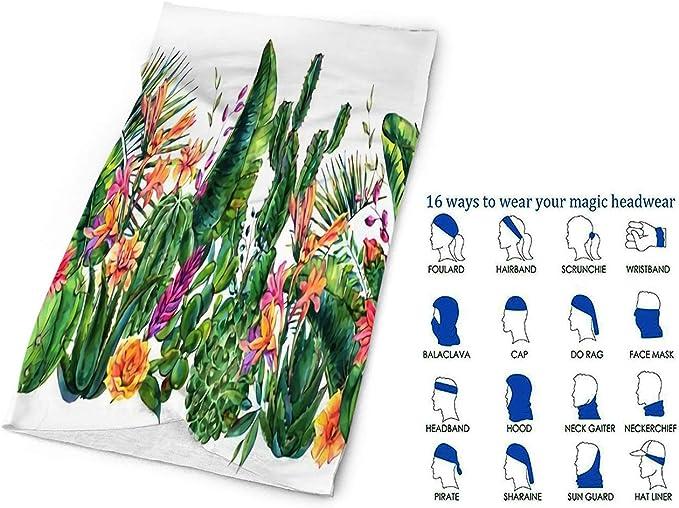 Magic Headwear White Tulips Outdoor Scarf Headbands Bandana Mask Neck Gaiter Head Wrap Mask Sweatband