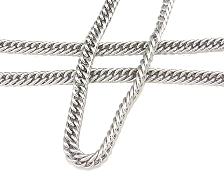 SC-1005 6.6ft Stainless Steel Chains Findings Cowboy Link Double Weave Chain Fit for Jewelry Making /&DIY