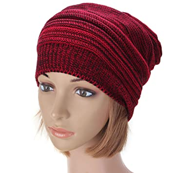 04beb65bdbd Image Unavailable. Image not available for. Color  Knit Baggy Beanie