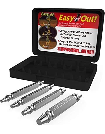 TiKiJos Damaged Screw Extractor and Remove Set Silver
