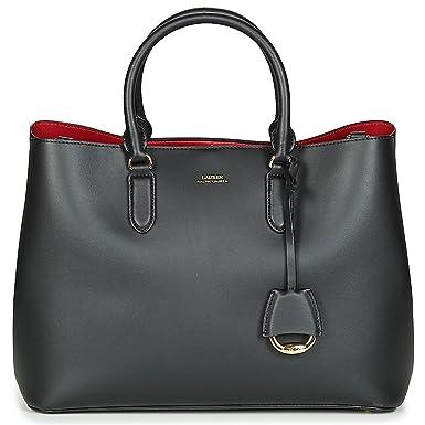 5f00df29b3c89 Lauren Ralph Lauren DRYDEN MARCY SATCHEL LARGE Handtaschen damen Schwarz Rot  Handtasche