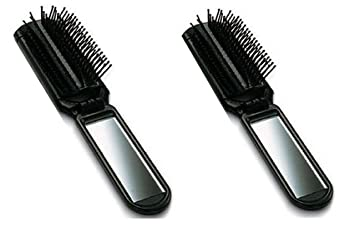 a642076cb607 Amazon.com   Lot of 2 ALAZCO Folding Hair Brush with Mirror