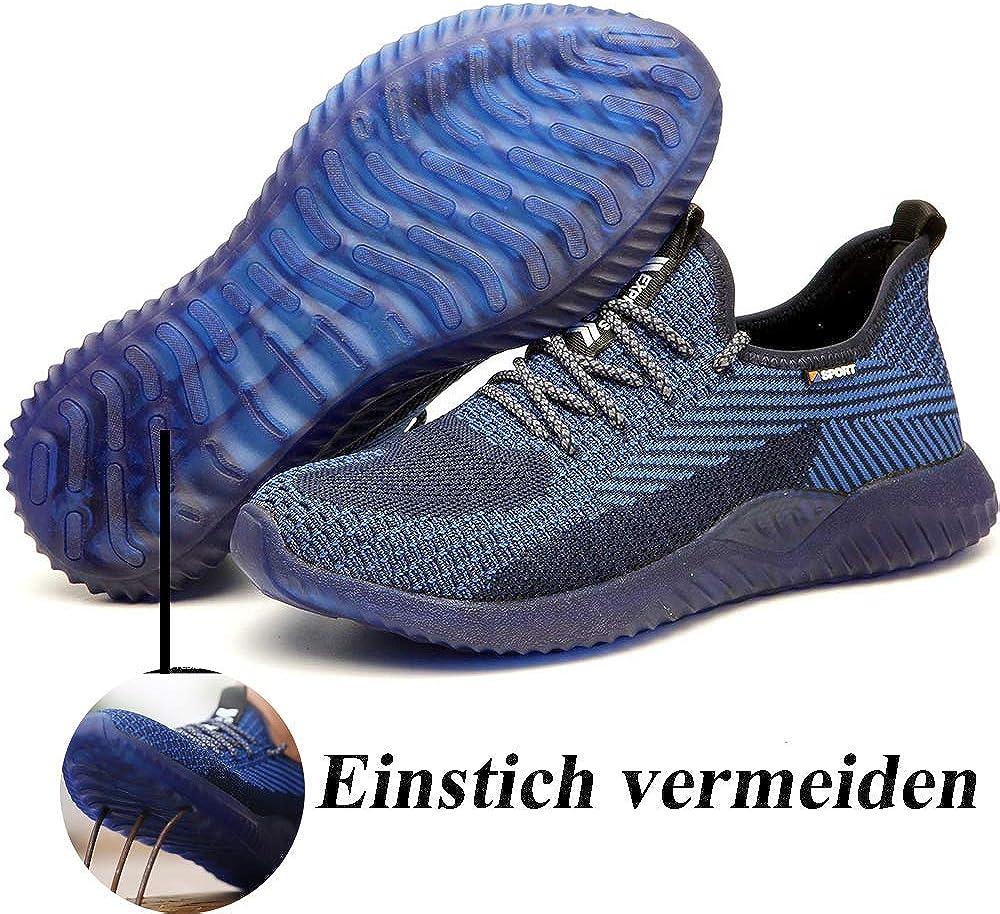 SUADEEX Sicherheitsschuhe Herren Arbeitsschuhe Damen Herren S3 Leicht Sportlich Atmungsaktiv Schutzschuhe Stahlkappe Sneaker
