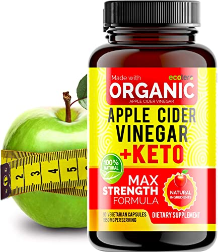Apple Cider Vinegar Capsules with Mother Keto BHB High Potency 1950 mg , Keto Weight Loss Pills – Apple Cider Vinegar Pills for Weight Loss, Keto Pills Weight Loss, Keto Supplement
