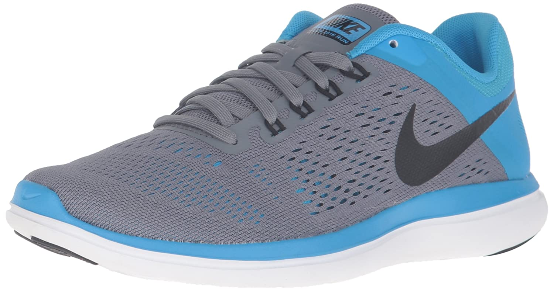 NIKE Women's Flex 2016 Rn Running Shoes B019DR0PPK 11 B(M) US Cool Grey/Black/Blue Glow/White