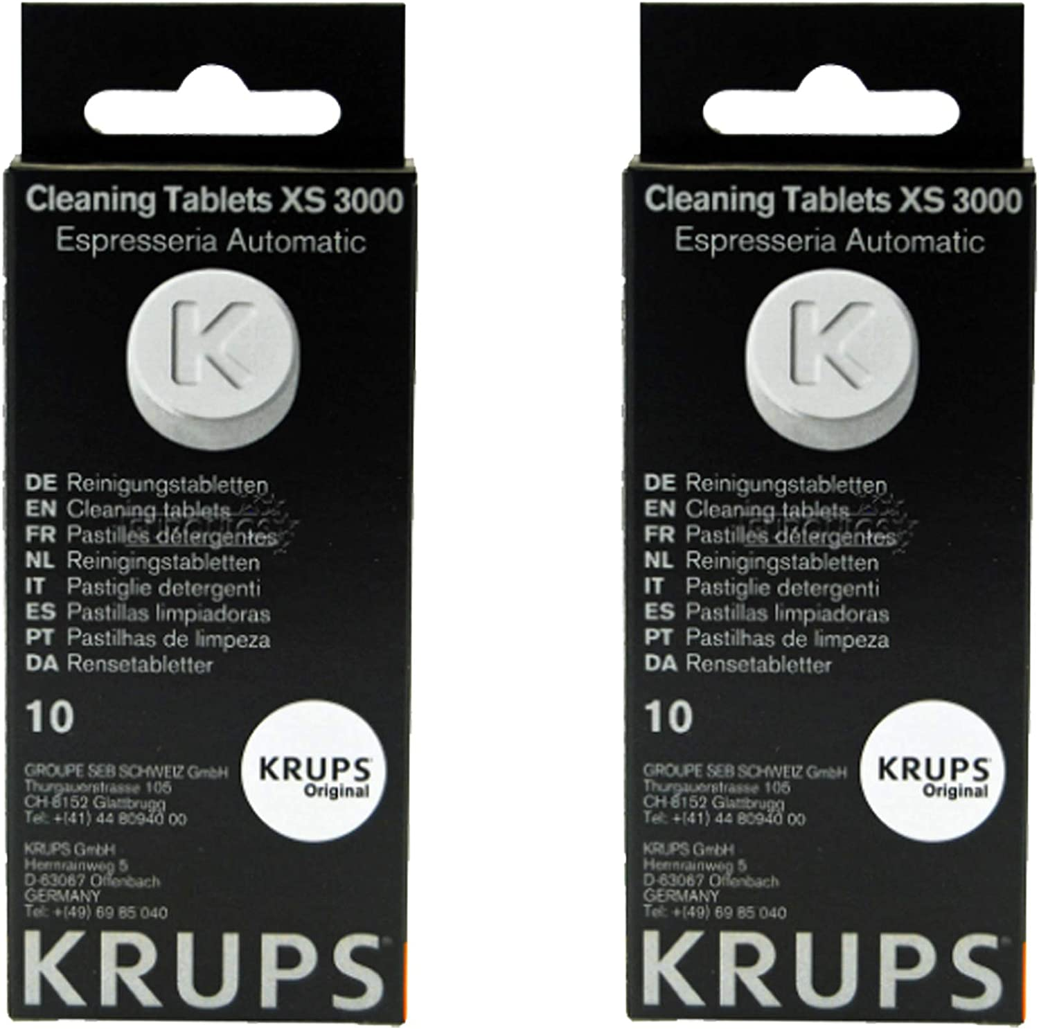 Krups XS300010 Cleaning Tablets for Espresseria Automatique Espresso Coffee Machine 1.5g x 20
