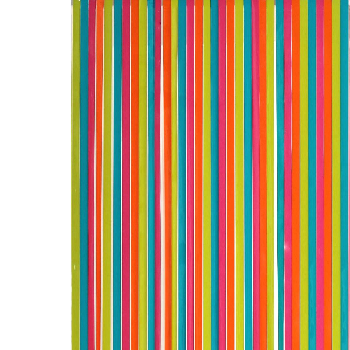 Rideau de porte lanières plastique Multicolore: Amazon.fr: Cuisine ...