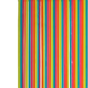Rideau de porte Lanières plastiques multicolore largeur 90 cm x ...
