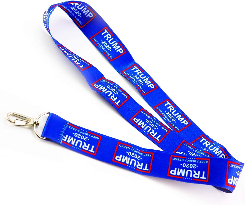 Donald Trump 2020 Neck Lanyards keychains Keep America Great Camo USA 2 Packs