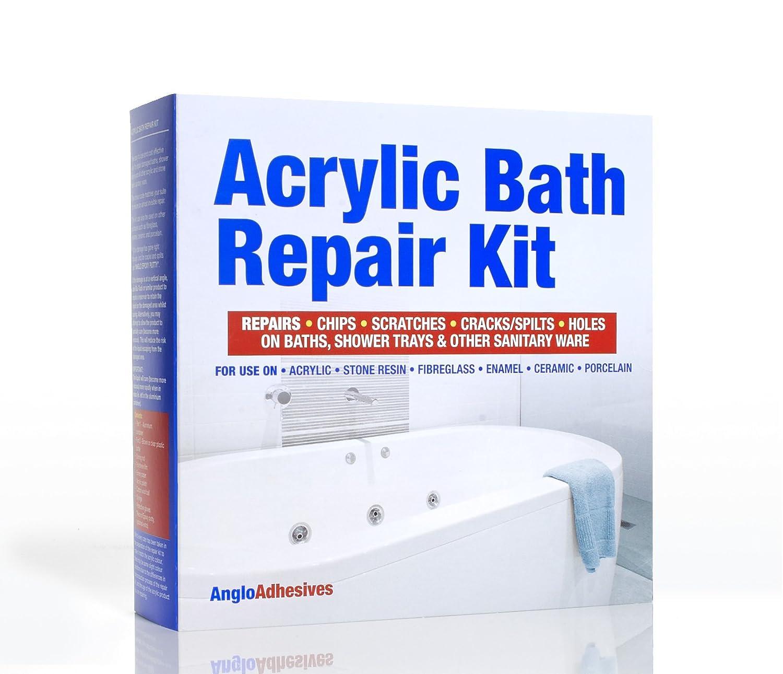 ACRYLIC BATH REPAIR KIT & PUTTY - REPAIRS CRACKS, SPLITS, HOLES ...