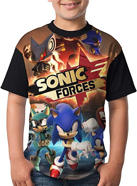 Sonic The Hedgehog Tops Kids 100/%Cotton Tee Age 2-16 Youth Short Sleeve T-Shirt