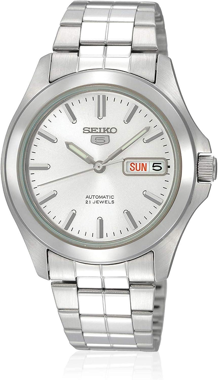 Seiko Reloj Analógico Automático para Hombre con Correa de Acero Inoxidable – SNKK87K1