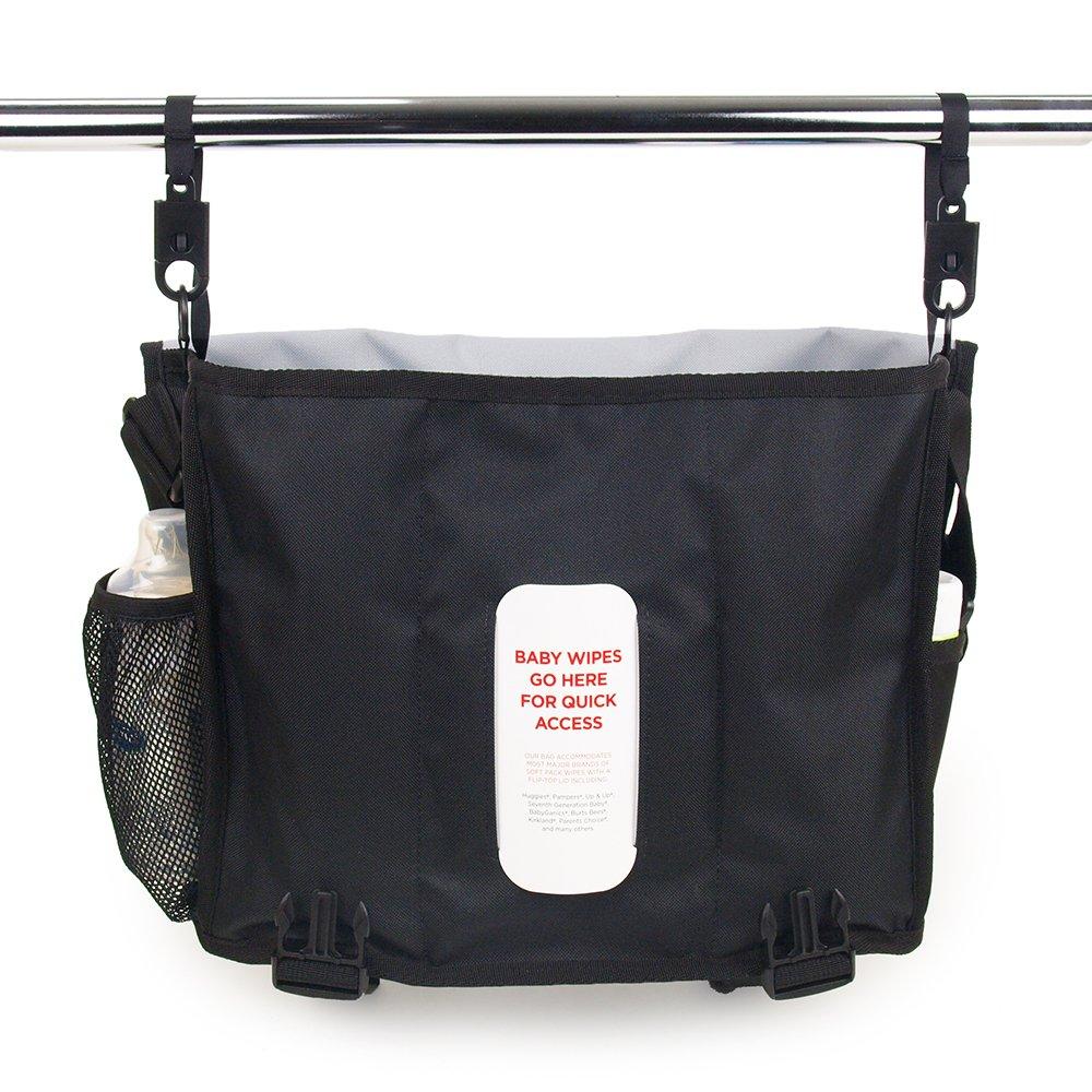 a1e8b9af24 Amazon.com   DadGear Courier Diaper Bag - Green Retro Stripe   Diaper Tote  Bags   Baby