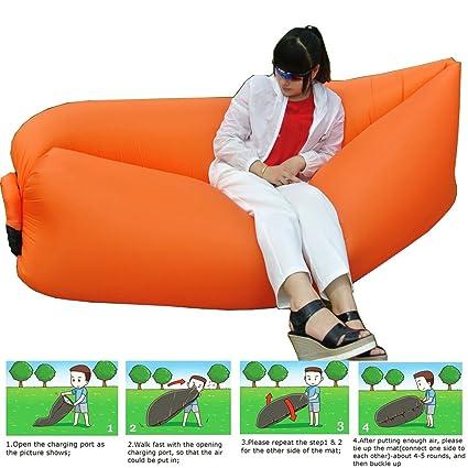 Aire de sofá – Ahora más fácil de montar. hinchable – Tumbona playa Lazy Sofá