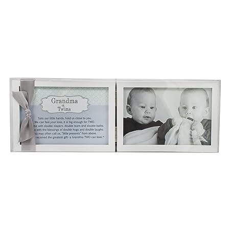 Amazoncom Grandma Of Twins Poem White Double Hinged 4 X 6 Photo