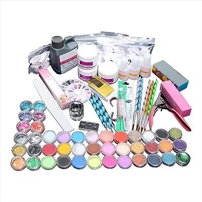 N/X ღDOOIOR Acrylic Powder Shiny Glitter Nail Art Decoration Acrylic Nail Kit Nail Art Tools Kit Combo Set Professional DIY Gel Nail Art Kit Glue Nail Tools: Paintings