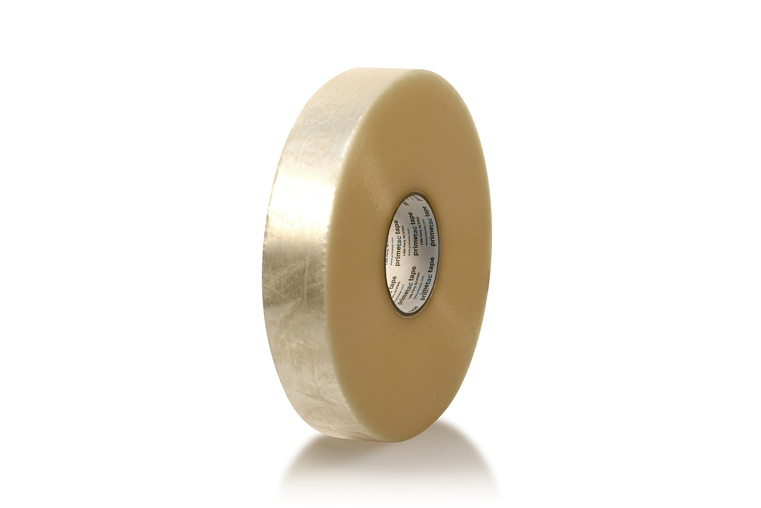 Primetac 640 2x1000 CL Clear Heavy Duty Hot Melt Carton Sealing Tape, 2.4 mil Thickness, 914 m Length, 48 mm Width (Pack of 6 Rolls)