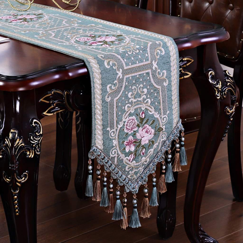 D 33160cm nouveau American Table courirner Salon Table Basse TV Cabinet Européen De Luxe Table Tissu Lit Drapeau Jacquard Napperon Moderne Minimaliste (Couleur   A, taille   33  180cm)