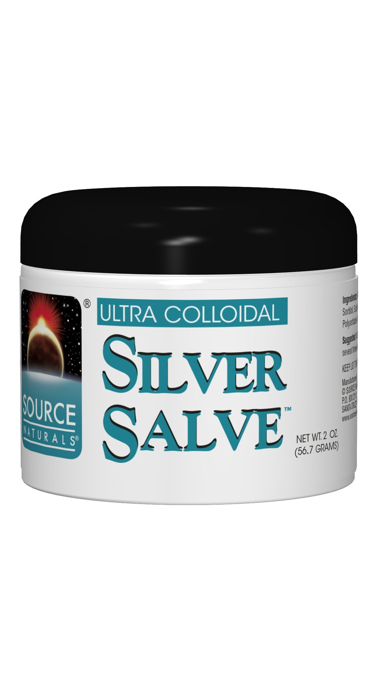 Source Natural Ultra Colloidal Silver Topical Salve - Pure, Mineral & Herbal Supplement - With Citric Acid & Lavender Essential Oil - 2 oz