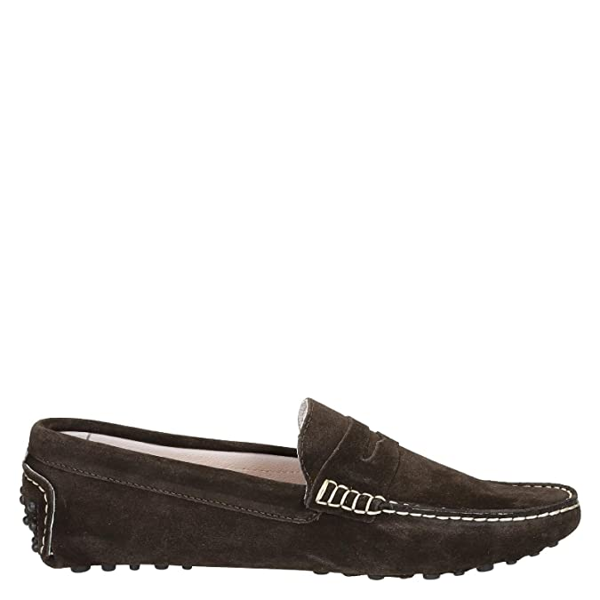 Men's LU2CAMOSCIOTESTADIMORO Brown Suede Loafers