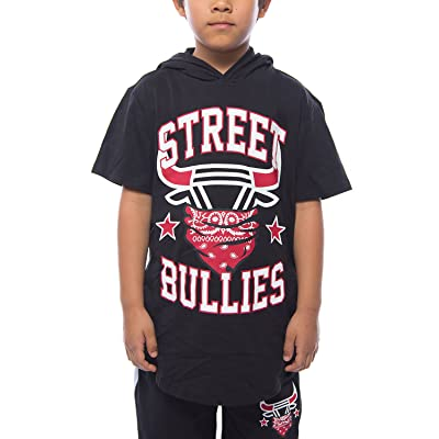 Boys Kids Fashion Bandana Street Bullies Pullover Hoodie Top H7S121K