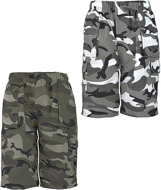 LOTMART Enfants Camouflage Poches Multiples Short Paquet Paquet de 3 Couleurs