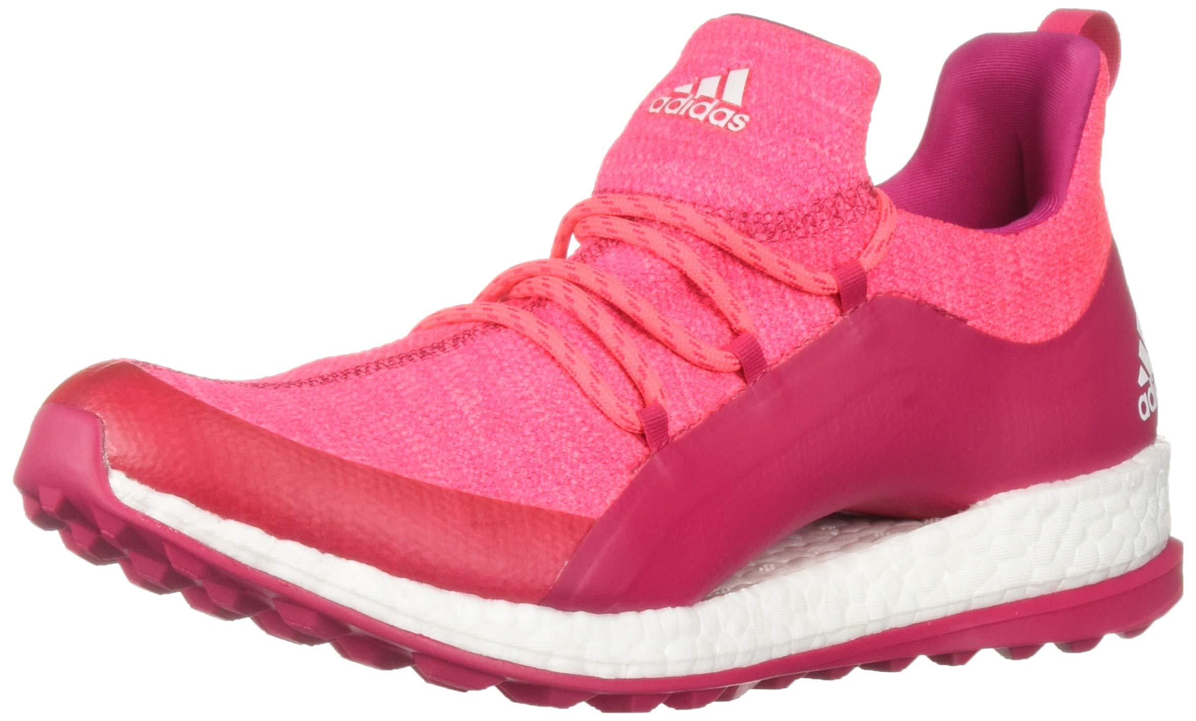 ff9375914b adidas Womens Pureboost XG 2 Golf Shoe red Zest/Active Purple/FTWR White  5.5 M US