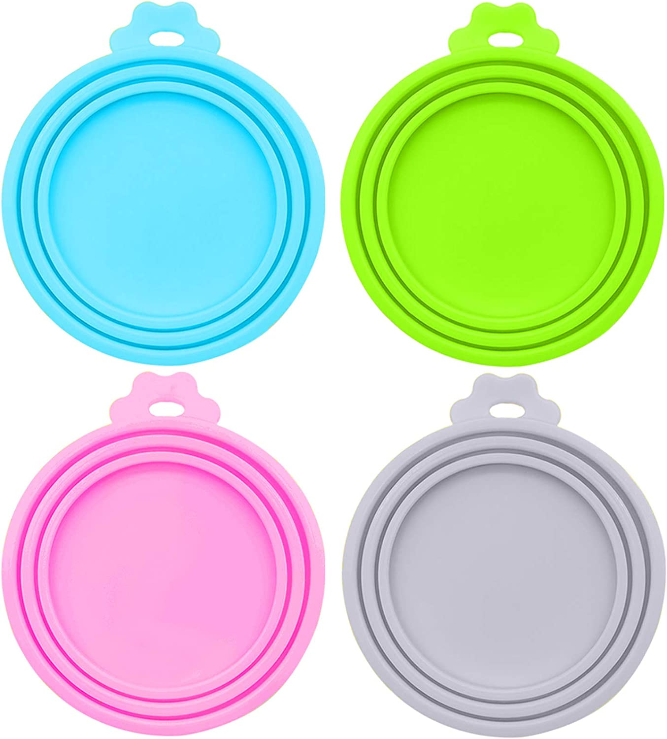DORUI Pet Food Can Covers, Universal BPA Free Silicone Dog Cat Can Lids, Fit Most Standard Size Dog and Cat Cans