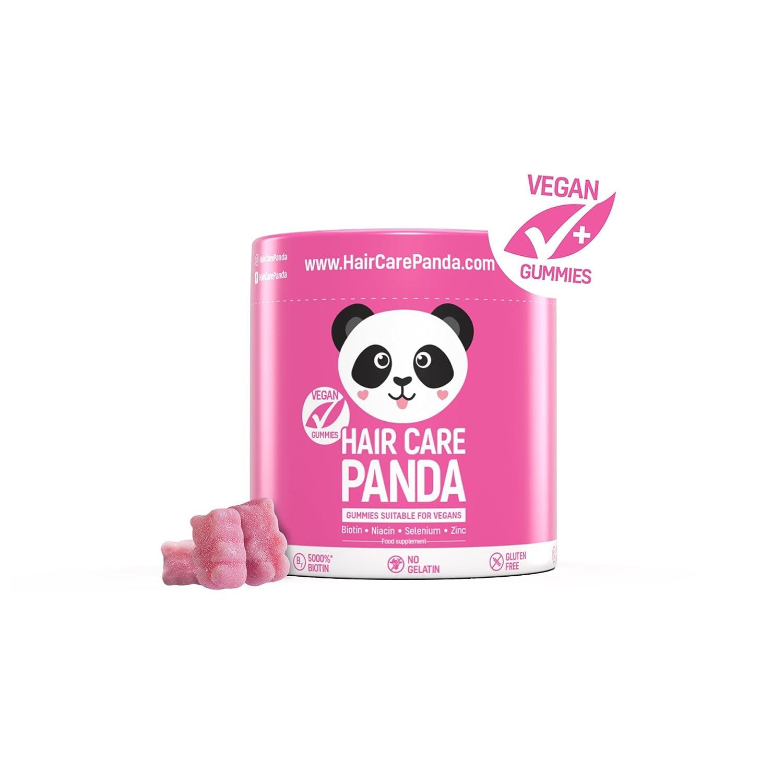 Hair care panda - Vitamine gesundes Haar, vegane Gummibärchen Biotin langes dickes kräftiges Haar 60 Gummibärchen Noble Health