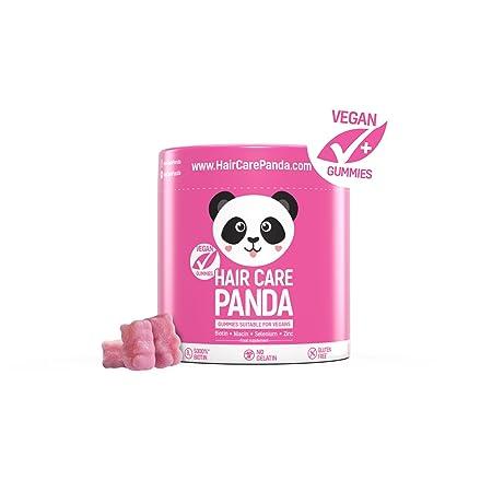Hair care panda - Vitamine gesundes Haar, vegane Gummibärchen Biotin langes dickes kräftiges Haar 60 Gummibärchen