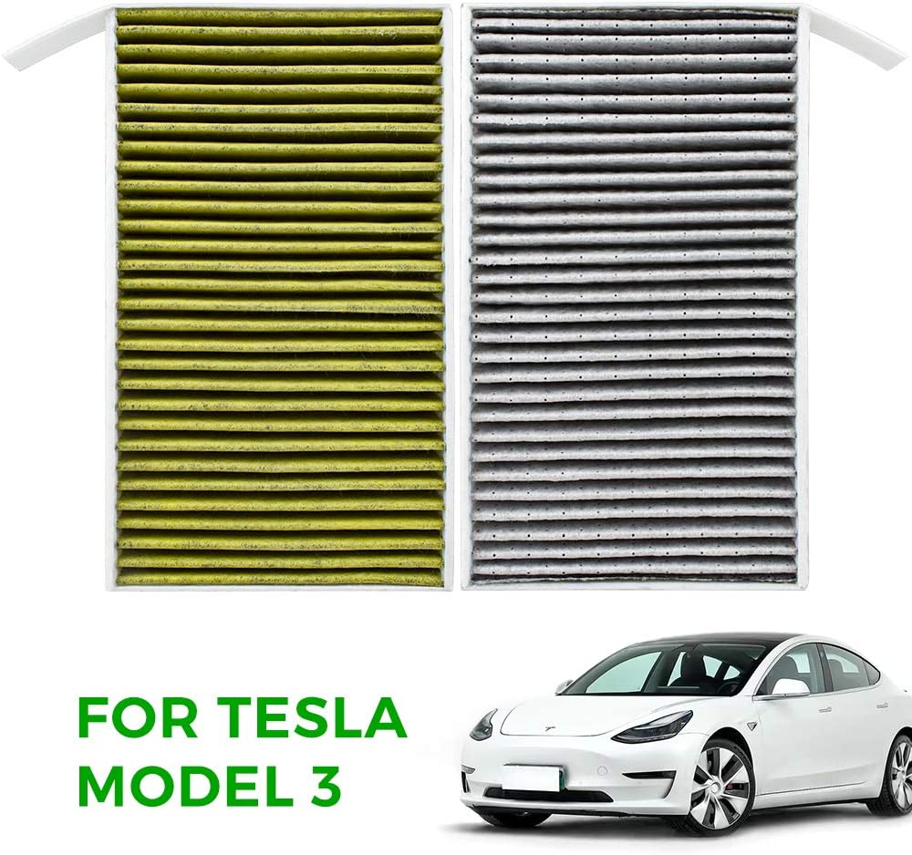Amazon Com Taptes Cabin Air Filter Replacement With Pm2 5 Activated Cabin Compatible With Tesla Model 3 2017 2018 2019 2020 Set Of 2 Pcs Automotive