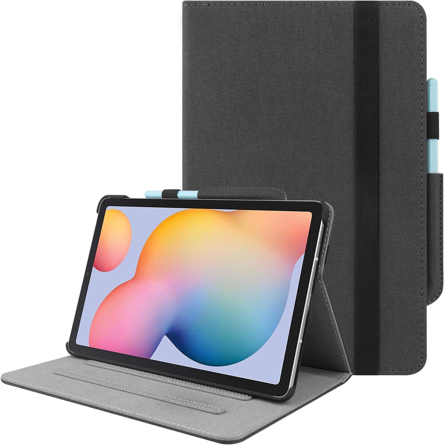 HoYiXi Coque pour Samsung Galaxy Tab S6 Lite 10.4 2020 Mince Cuir Smart Cover