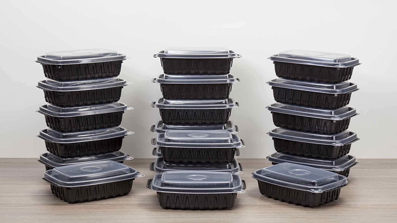 Meal Prep Containers Mr. Fresh 20 food storage containers with lids BPA Free Microwave/Dishwasher/Freeze Safe Stackable Reusable