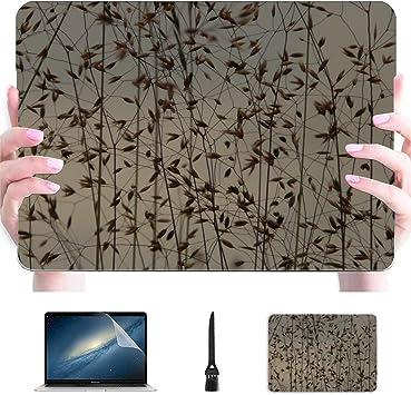 Mac Book Air Estuche Bluegrass Grass Meadow Verano Retroiluminación Plástico Carcasa Dura Compatible Mac Macbook Air 2018 Accesorios de protección para Macbook con Alfombrilla de ratón: Amazon.es: Electrónica