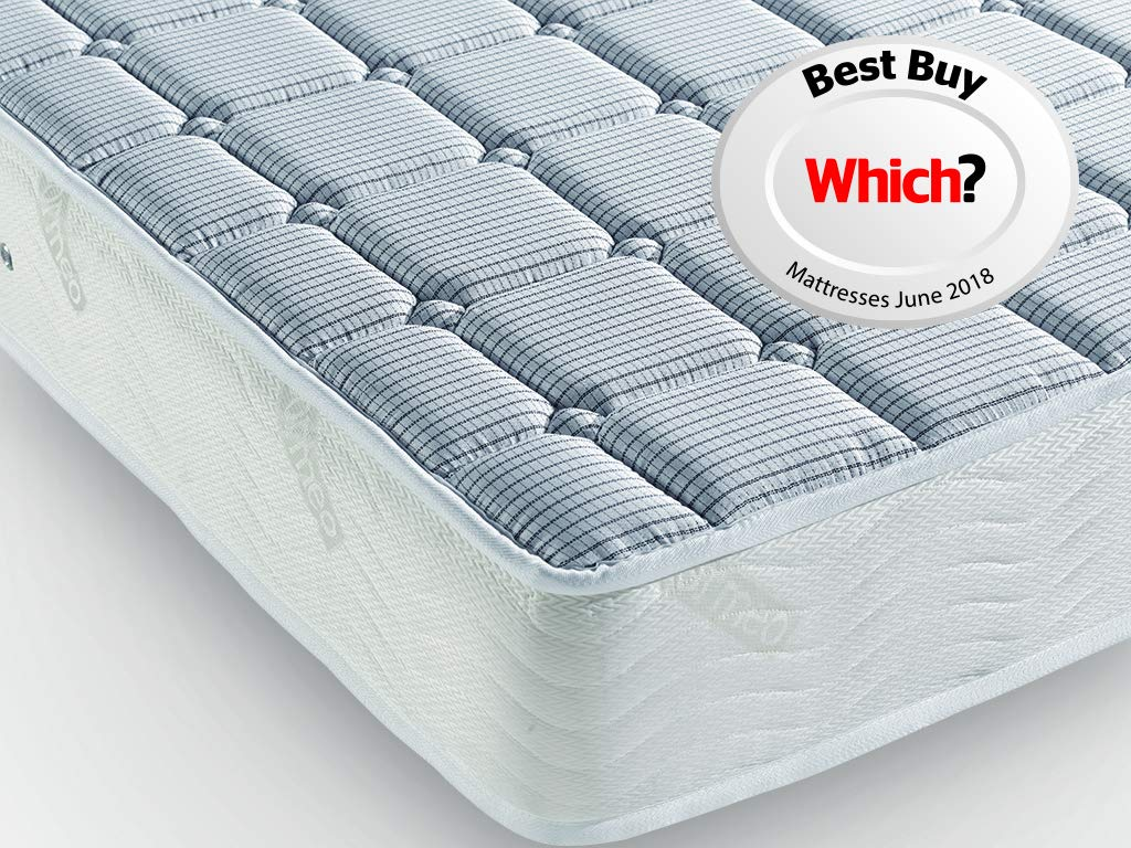 anti-dust mite Pikolin white Cama 80-80 x 190//200 cm white /Waterproof Quilted Fibre Mattress Protector/