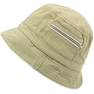 db1ae90ed984a Hawkins Bucket Hat with Contrast Trim and Zip Pockets  Amazon.co.uk   Clothing