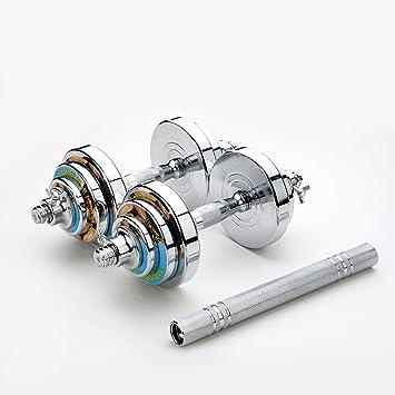 Relife deportes mancuernas pesas acero cambiado en barra con conexión tubo de acero ajustable Peso Set