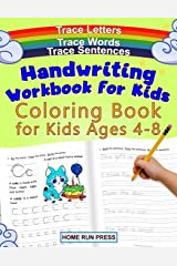 Handwriting Workbook for Kids Coloring Book for Kids Ages 4-8: Trace Letters Paperback