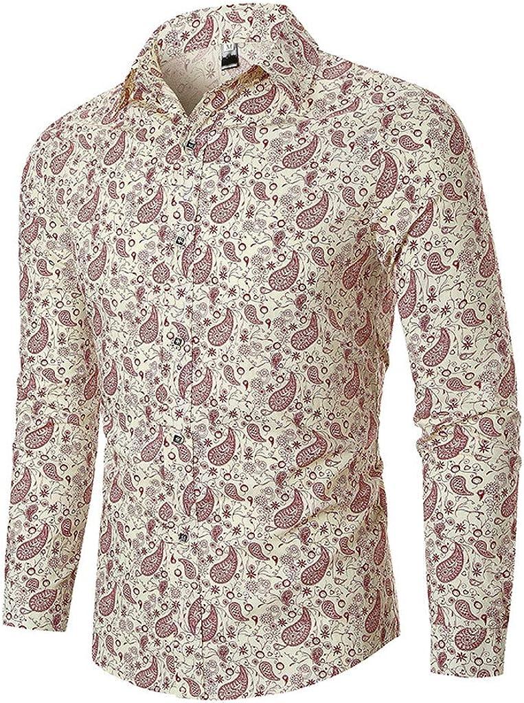 Sylar Camisas De Hombre Manga Larga Camisas De Vestir Polos Manga Larga para Hombres Camisas De Estampado Letras con Botones Camisa De Algodón Slim Fit Otoño Camiseta De Blusa para Hombre: Amazon.es: