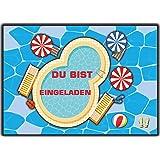 Poolparty Schwimmen Einladungskarten Kindergeburtstag Schwimmbad Einladung  Für Jungen Mädchen ...