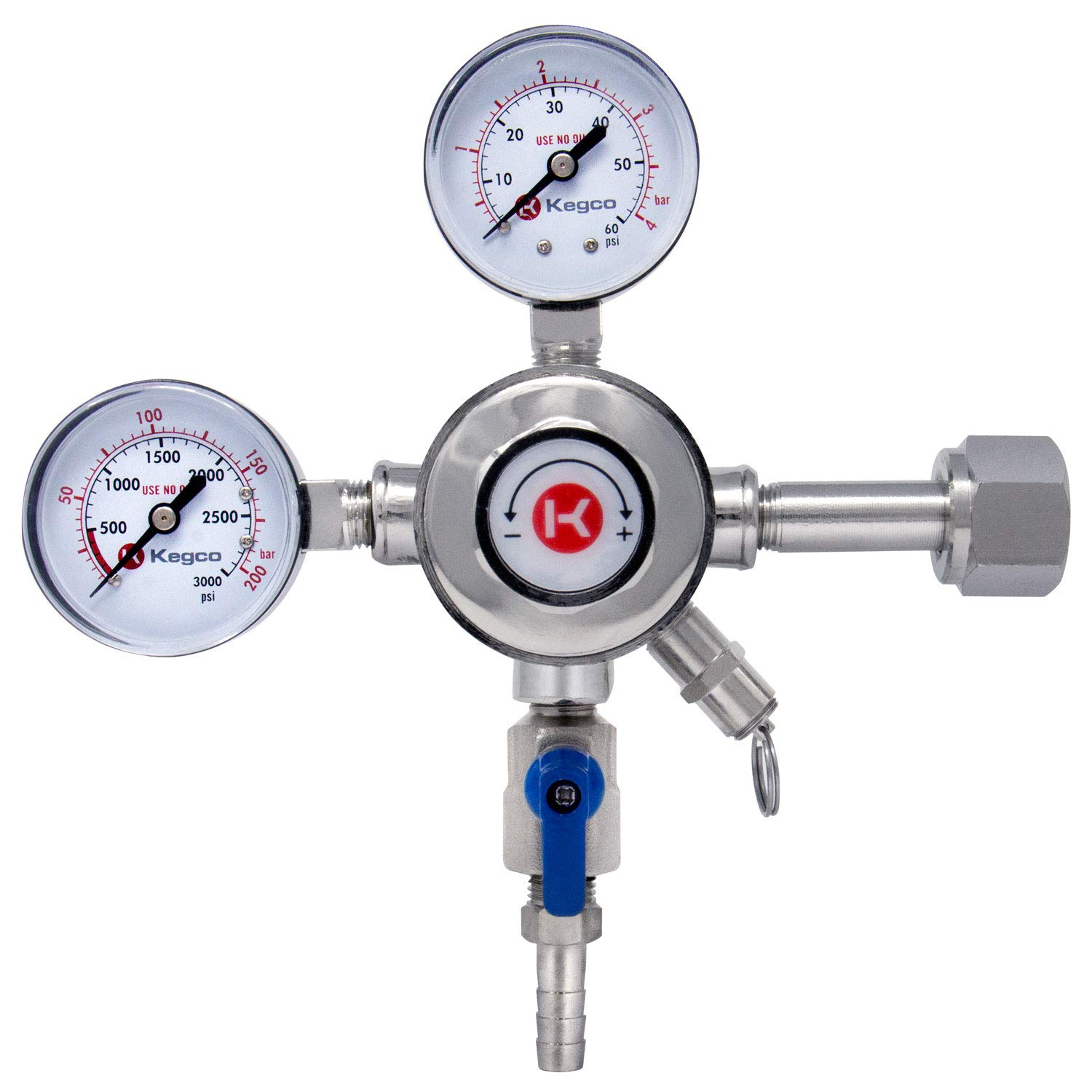 Kegco KC LH-542 Draft Beer Regulator, Chrome by Kegco