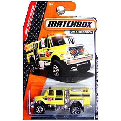 2014 Matchbox MBX Heroic Rescue International Workstar Brush Fire Truck: Toys & Games