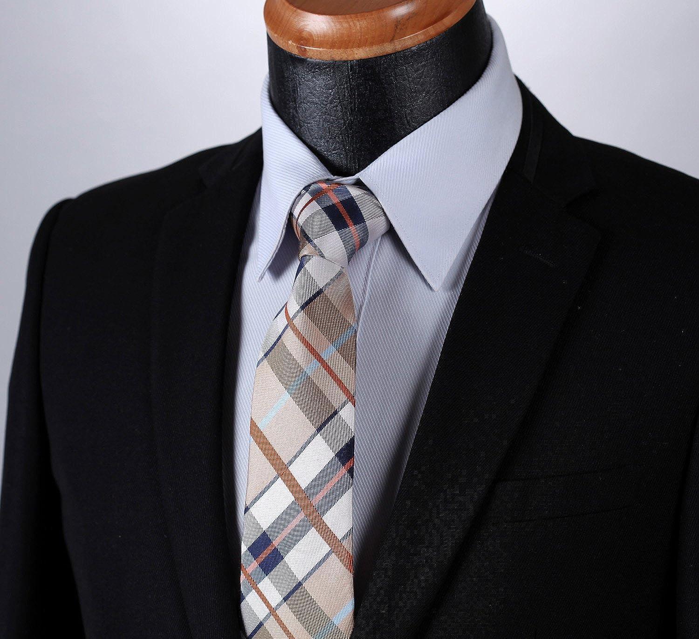 HISDERN Extra long Verifier Cravate Mouchoir Pour des hommes Cravate /& Carre de poche Set