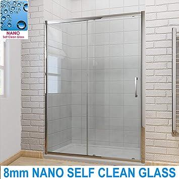 Schiebetür Dusche Moderne Badezimmer 8 mm leicht reinigen Glas ...