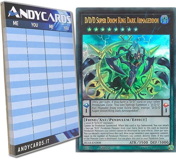 Yu-Gi-Oh! - D/D/D SUPER DOOM KING OSCURITÀ ARMAGEDDON - Ultra Rare ...
