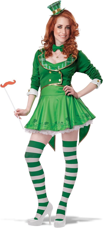 Disfraz de duende Leprechaun de la suerte mujer San patricio L ...