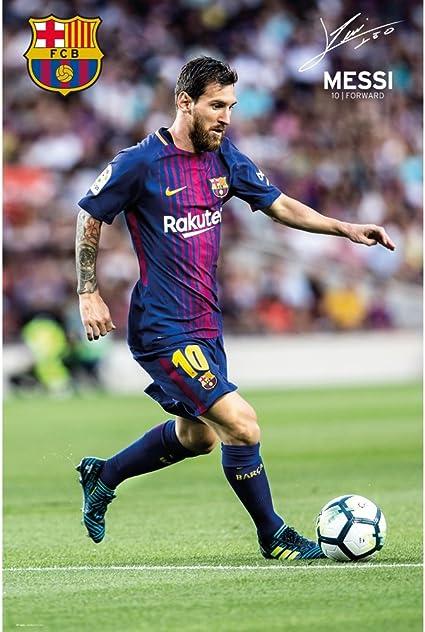 Lionel Messi Barcelona Super Star Action Poster