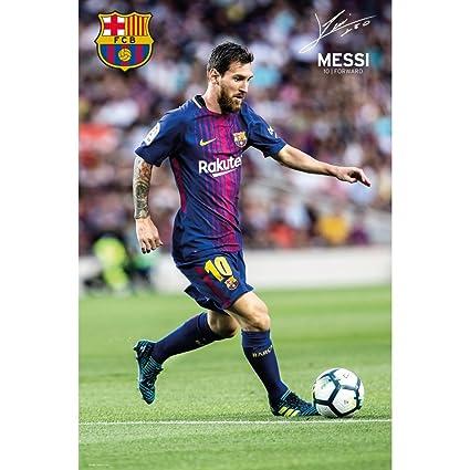 c66c34c9b Amazon.com : Lionel Messi Barcelona 2017-18 Action Poster : Sports &  Outdoors