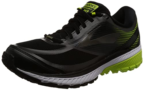 9a68820e068 Brooks Men s Ghost 10 GTX Black Ebony Lime Popsicle Athletic Shoe ...