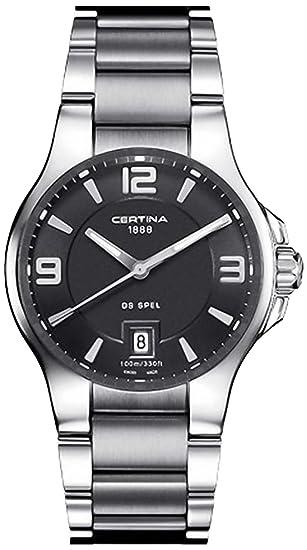 Certina 0 - Reloj de cuarzo para hombre, con correa de acero inoxidable, color